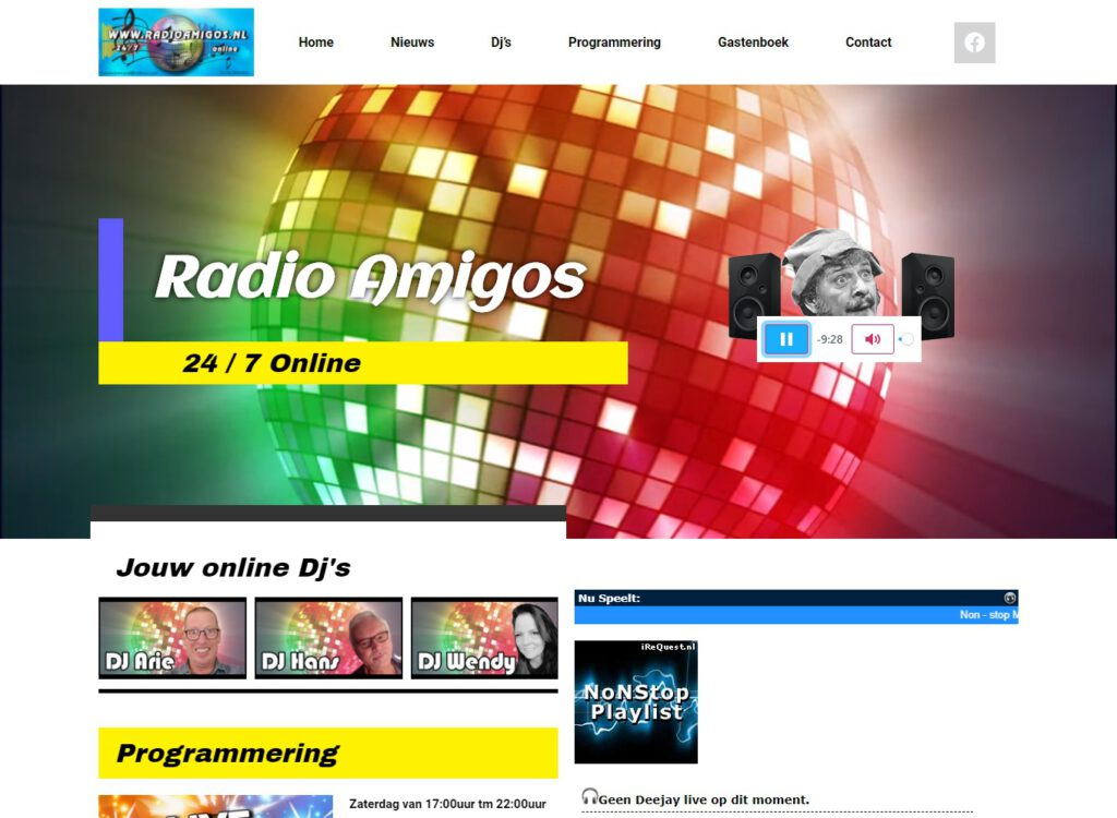 Radio Amigos nieuwe site